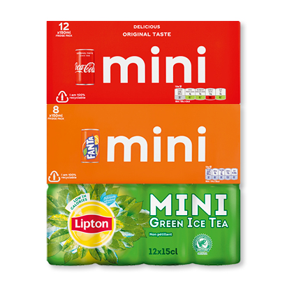 categorie-afbeelding Coca-Cola, Fanta of Lipton Ice Tea mini's