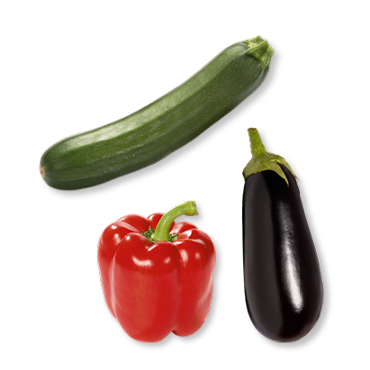 categorie-afbeelding Rode paprika, aubergine of courgette