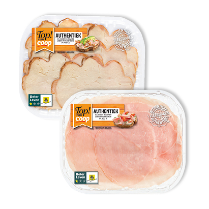 categorie-afbeelding Top! van Coop Authentieke ovengebakken kipfilet, yorkham, corned beef, kip grillworst of grillham
